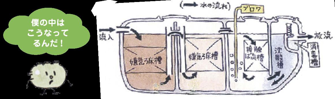 (図)浄化槽の構造